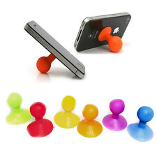 Silicone Universal Mobile Phone Stand Stick On Rubber Holder Grip - Desk Table