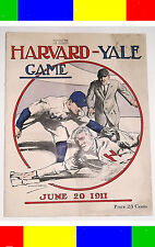 ANTIQUE 1911 HARVARD-YALE BASEBALL MAGAZINE PROGRAM College Card Football
