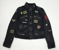Armani jeans jacket donna vintage usato denim giacca usato giubbino luxury T4271