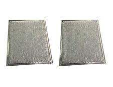 "(2) Microwave Range Hood Vent Aluminum Filter 9"" x 10 1/3"" x 1/8"" Flat"