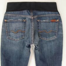 7 for All Mankind MATERNITY UNDER BUMP Stretch Bootcut Jeans W29 L34 UK Size 10