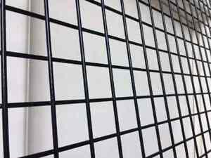 "Welded Wire Mesh Panels | Black Powder Coated Sheet | 1"" x 1"" Hole (Choose Size)"