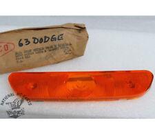 Mopar NOS 1963 Dodge B-Body Front Left or Right Park-Signal Amber Lens 2448610