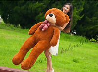 63'' Giant Huge Big Teddy Bear Plush Soft Stuffed Animals Toys Doll Pillow Gift