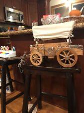 "Vintage Large Model Replica Wooden Wagon Conestoga Sooner 30"" Long"