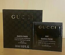 5 X GUCCI LUSTROUS FLOW FOUNDATION 0.8ML SAMPLE SPF 25 SHADE 60 NEW FREE P&P