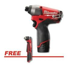 """Milwaukee M12 FUEL 1/4"""" Hex Impact Driver Kit w/FREE M12  Cordless 3/8"""" Right An"""