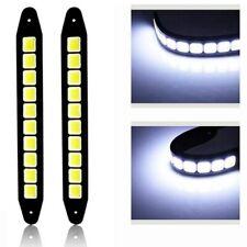 2XLED Strip Auto Car DRL LED Daytime Running Light White Fog COB Lights Flexible