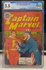 Fawcett Captain Marvel Adventures #28 CGC 5.5 Golden Age 1943 Hitler appearance!