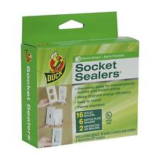 Duck Brand Socket Sealers Variety Pack, 16 Outlet Sealers and 6 Switch Plates