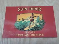 1992 Dole Historic Can Label Surf Rider Brand Honolulu HI Postcard, Pineapple