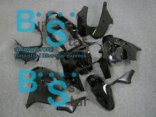 Gloss black Fairing Bodywork Plastic Kit Kawasaki Ninja ZX-9R 2000-2001 001 D6