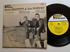 "EMILE DECOTTY & LUC HARVET: Mon pays 7"" mini 33T 6 titres 1967 PRESENCE SBV 500"