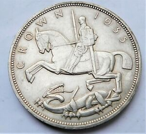 NO RESERVE George V 1935 Rocking Horse Crown