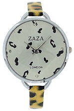 Zaza London Ladies Womens Leopard Design Strap Fashion Watch Gift for Her LLB872