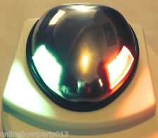 Stainless Steel Boat Marine Deck Mount Compact LED Bi Color Navigation Bow 51164
