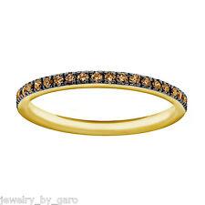 14K YELLOW GOLD CHAMPAGNE DIAMOND WEDDING AND ANNIVERSARY HALF ETERNITY BAND