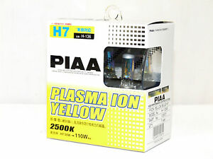 Piaa 2500K 55w=110w Plasma Ion Yellow H7 Halogen Headlight Low Beam Bulbs C