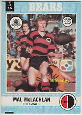 1977 SCANLENS RUGBY LEAGUE TRADING CARD #81: MAL McLACHLAN - NORTH SYDNEY BEARS