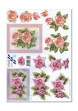 3D Bogen Novelle Motivbogen Etappenbogen Grusskarte Rosen (148) Bildbogen