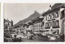 Switzerland, Gruyeres, La Rue et Dents de Broc et Chamols Rp Postcard, A479