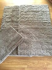 Romany Washable Carravan Rug Sets 3 x Rug 1 x Doormat Harewood Medium New Beige