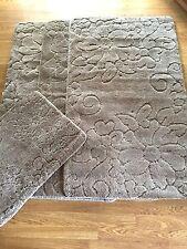 Romany Washable Carravan Rug Sets 3 x Rug 1 x Doormat Harewood Medium New Beige