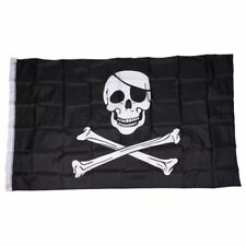 Bandera pirata Craneo y Tibias cruzadas Jolly Rodger Grande 5x3 ' Tamano Z8Z9