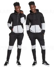 Mens Slim Fit Tracksuit Set Bottoms & Hoody Joggers Jogging Jacket Gym Sports