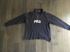 Polo Ralph Lauren 1/4 ZIP Sweatshirt Shirt Used Size XL Spell Out Vintage Blue
