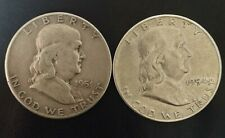 More details for two walking liberty silver half dollars 1951 and 1954