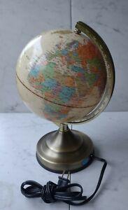 Vintage Touch Globe Portable Lamp Underwriters Laboratories Desk Table World