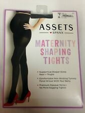 Assets by Spanx Women's Maternity Terrific Shaping Support Tights, Black, Size 4