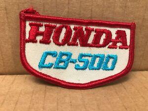 "VINTAGE ORIGINAL 1970'S EMBROIDERED HONDA CB-500 JACKET PATCH 3.5"" X 2"""