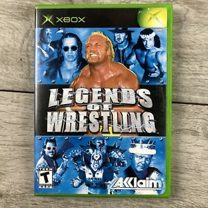 Legends of Wrestling (Microsoft Xbox, 2002) Complete With Manual