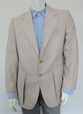 44R Members Only by Europe Craft Tweed Blazer/Sport Coat Wool Beige Yugoslavia