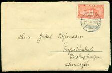 "ICELAND 1926 20AUR LANDSCAPE TIED ON GERMAN ""ADLON"" FOLD-OUT-CARD, UNUSUAL, VF"
