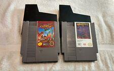 Gauntlet II (Gauntlet 2) & Karnov (Nintendo NES, 1990) Game Cartridge Lot Only