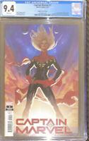 Captain Marvel #1. 1st Appearance Of Ridley Ryan. Adam Hughes Variant  9.4 CGC