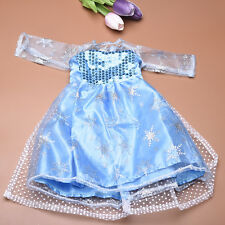 Blue Sequins Sleeveless Dress for 18 Inch Girl Doll Party Clothing