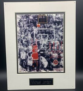 "Michael Jordan ""The Last Shot"" Photo Poster 20x 16"" Chicago Bulls.#d 2,300"