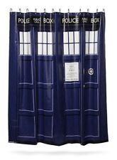 NEW Doctor Who Tardis Shower Curtain w/ 12 Hanger Rings