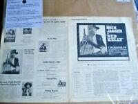 "PERFORMANCE ""NED KELLY"" Movie Pressbook 1970 Mick Jagger  Rolling Stones"