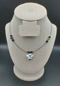 Ghost Halloween Necklace Hand Crafted