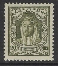 More details for transjordan sg201a 1939 20m olive-green p13½x13 mnh