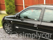 Tinted Front Window Heko Wind Deflectors 2pc Set Renault Clio (98-05) [3 Door]