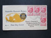 Australia SG#281 (x4) on Rotary Cachet First Day Cover / Light Creases - Z4051
