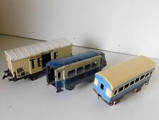à RESTAURER vintage LOT ancien WAGON TRAIN JOUETS HORNBY MECCANO UNIS tin TOYS