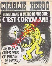 Charlie Hebdo n°322 du 13/01/1977 Corvalan Moscou Cabu Naussac Lozère