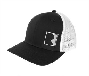 Roush Performance Embroidered R Logo Black White Gray Flexfit Mesh Hat Cap